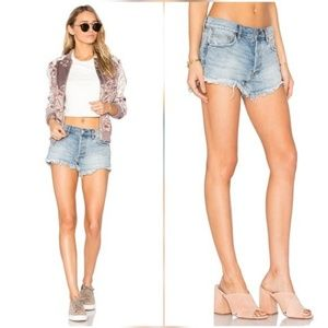 Free People Relaxed Cut Jean Short